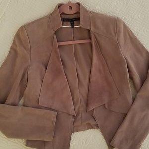WHBM Suede jacket sz XXS